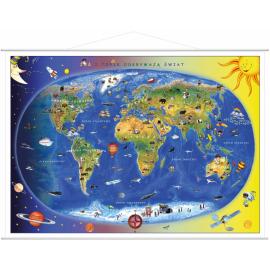 Mapa Świata dla dzieci -...